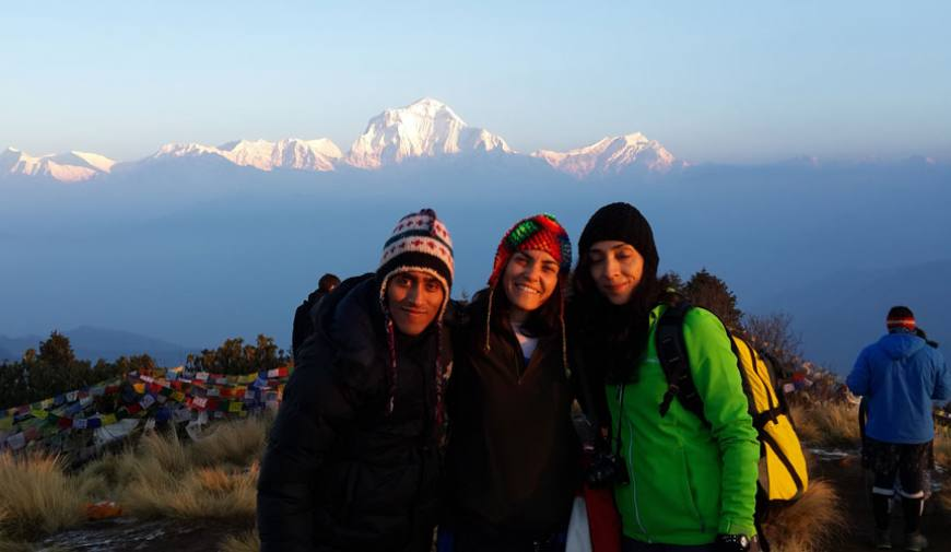 Poon Hill with Mt. Dhulagiri,8167m