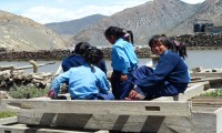 Jomsom with students