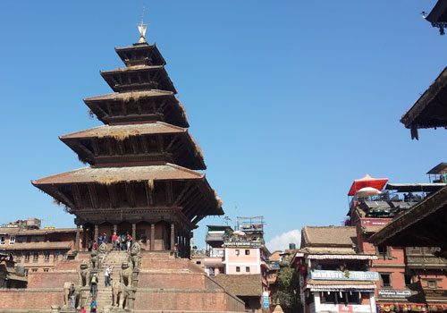 Fly back to Kathmandu in the morning.