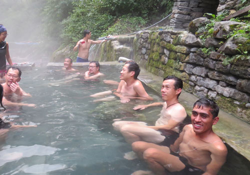 Trek to Jhinu hot spring (1,780 m) - 5 hrs.